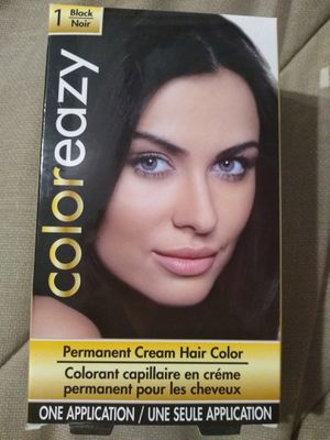 Coloreazy 1 Black Permanent Cream Hair Color new for Sale in Lewiston, NY