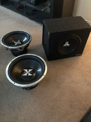 JL audio speaker 10s and powerbass 12s speakers all together for Sale in Reynoldsburg, OH