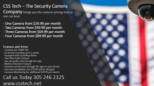 HD Security Cameras with Installation for Sale in Cutler Bay, FL