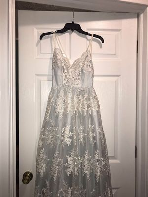 Baby Blue Floral Lace Prom Dress for Sale in Kipton, OH