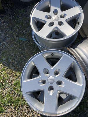 Jeep Wrangler wheels 17 inch set of 5 for Sale in Clovis, CA