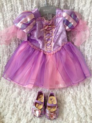 Rapunzel Disney costume 06-12 months with shoes. for Sale in Pompano Beach, FL