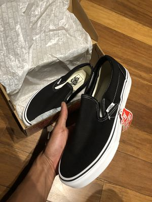 Vans slip on black size 8 new for Sale in Houston, TX
