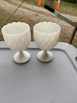 Pair of milk glass for Sale in Jetersville, VA