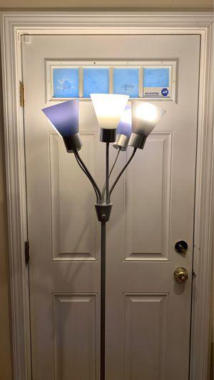 IKEA Modern Medusa Multi Head Floor Lamp Room Light with 5 Adjustable White Acrylic Reading Shades Room Light (Silver) for Sale in Boston, MA