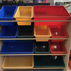 Shelf With Bins For Toy Storage for Sale in Baltimore, MD