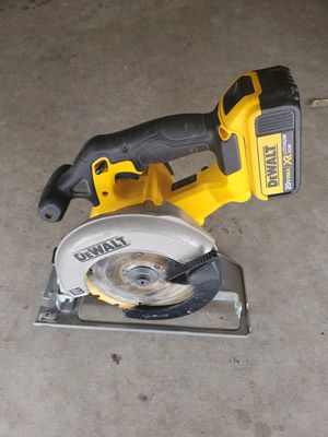 Dewalt circular saw and battery..no charger for Sale in Phoenix, AZ