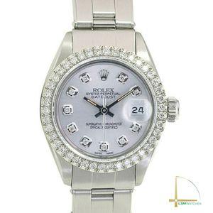 Rolex Datejust Steel 26mm Ladies silver Diamond Dial & Diamond Bezel Watch for Sale in CRYSTAL CITY, CA