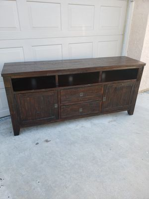 Rustic solid wood 70 inch TV stand for Sale in Bakersfield, CA