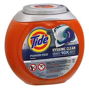 Tide Power Pods Laundry Detergent Pacs Hygienic Clean Original - 21 Count for Sale in Los Angeles, CA