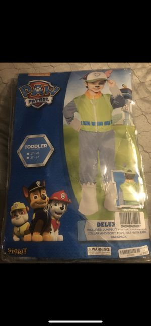 Brand new in package Paw Patrol ROCKY Costume 2T-4T for Sale in Las Vegas, NV