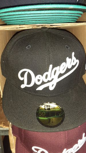 Dodgers black and white fitted hat $32 for Sale in La Verne, CA