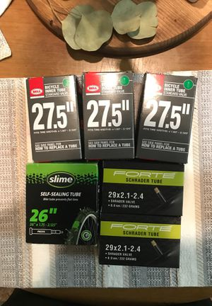 """26"""", 27.5"""", and 29"""" bicycle inner tubes for Sale in Coppell, TX"""