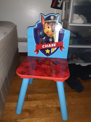 Paw patrol toddler wood frame and wood table and chairset for Sale in East Haven, CT
