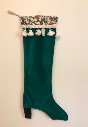 Real Leather, High-heeled, unique, Christmas stocking for Sale in Columbia, MO