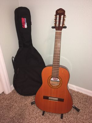 Guitar with case, stand and tuner for Sale in Valrico, FL