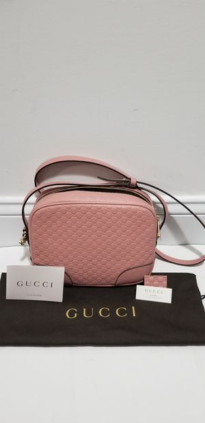 SBrand New 100% Authentic Pink GG Womens Gucci Leather Messenger Cross Body Bag Purse for Sale in Lowell, MA