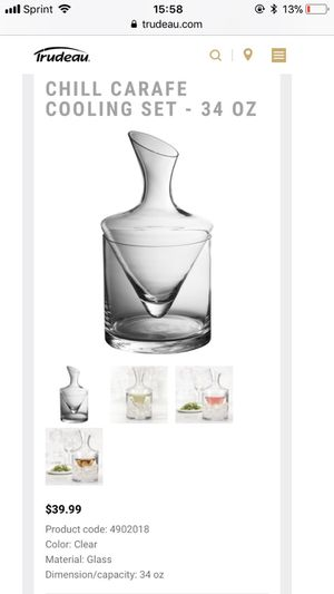 Chill carafe cooling set for Sale in Hallandale Beach, FL