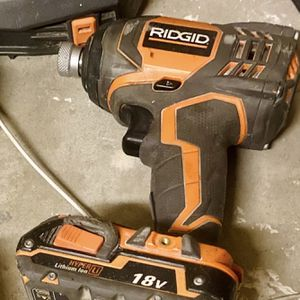Ridgid R86034 18-Volt X4 Impact Driver With Battery for Sale in Palm Desert, CA