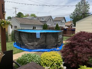 14 foot 48 inches deep Vinyl pool with metal poles for Sale in St. Louis, MO