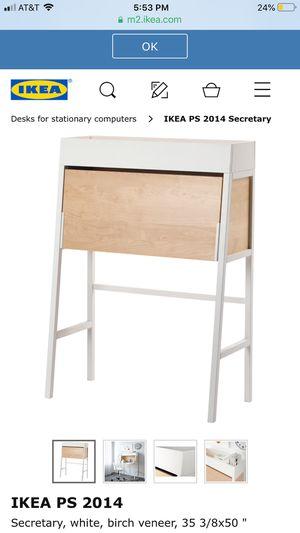 Secretary white, birch veener desk for Sale in Las Vegas, NV
