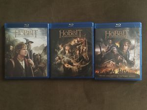 THE HOBBIT TRILOGY (ALL 3 DVD&BLU RAY DISCS) for Sale in Wichita, KS