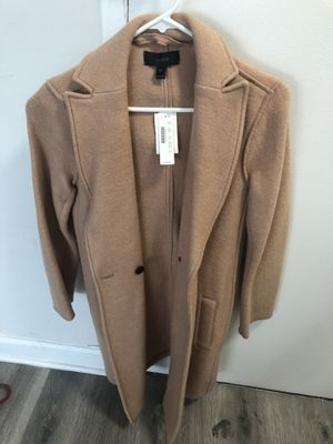 NWWT J crew camel pea coat size 00 for Sale in Falls Church, VA