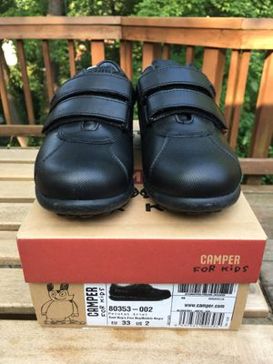 Kids new black leather shoes - Camper for Sale in Falls Church, VA