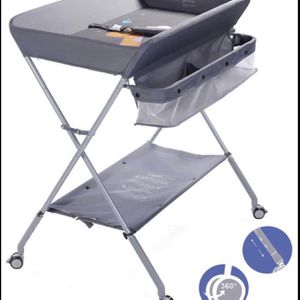 New EGREE Baby Changing Table Portable Folding Diaper Changing Station with Wheels Adjustable Height SUMMERLIN for Sale in Las Vegas, NV