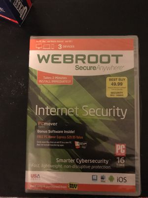 Webroot internet security. Good for 3 devices for Sale in Charlotte, NC