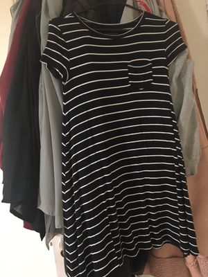 Like new short black and maroon dresses with white stripes for Sale in Kent, WA