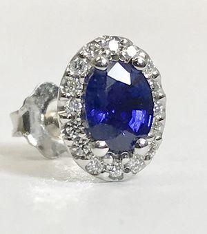 Women's earrings blue sapphire for Sale in Boston, MA