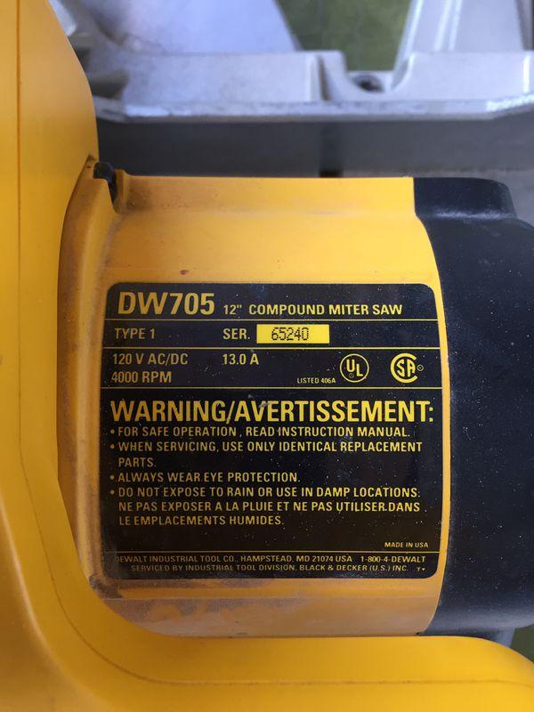 """Dewalt DW705 12"""" Miter Saw for Sale in Fountain Hills, AZ - OfferUp"""