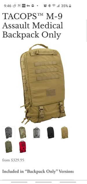 TSSI TACOPS M9 Slim Assault Medical Bag for Sale in Colorado Springs, CO