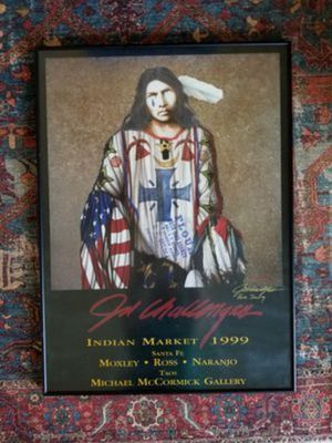 "Colorful JD Challenger Framed Print ""The Final Solution"" Native American Indian Art Picture 24 x 36 for Sale in Chandler, AZ"