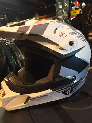 New flat white dot off road dirt bike motorcycle helmet $100 for Sale in Whittier, CA
