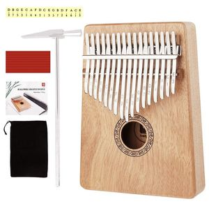 Kalimba 17 Keys Thumb Piano, Portable Mahogany Kalimba African Mbira with Study Instruction and Tunning Hammer for Kids Beginners Adults Gift, by Van for Sale in Santa Ana, CA