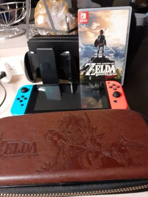 Nintendo switch V2 with Zelda and case for Sale in Oviedo, FL