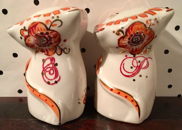 Anthropologie rare salt and pepper shakers