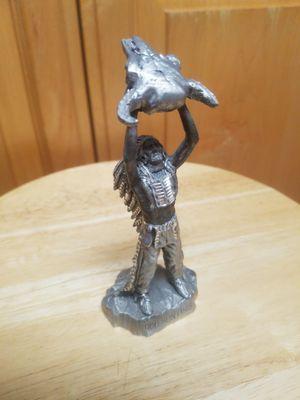 Small Native American Puter Statue for Sale in San Jose, CA