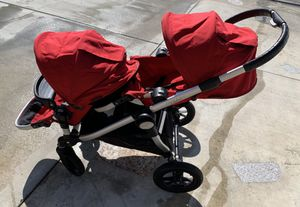 Baby Jogger City Select Double Stroller w/ Graco Car Seat Adapter, Red for Sale in Westminster, CA