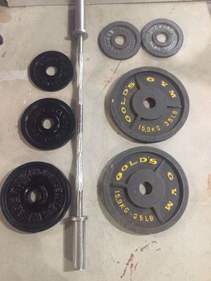 Weights and bar for Sale in Shrewsbury, MA