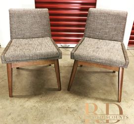 Baxton Studio Gray Fabric Upholstered Chairs (Set of 2 for Sale in Hyattsville,  MD