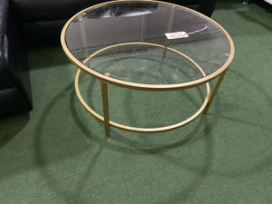 Brand new coffee table glass with gold trim for Sale in Palm Springs, FL