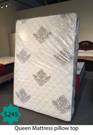 Queen mattress pillow top for Sale in Costa Mesa, CA