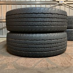 2) LT275/70/R18 FIRESTONE TRANSFORCE HT 10ply tires In excellent condition, $120 takes both for Sale in Bakersfield,  CA