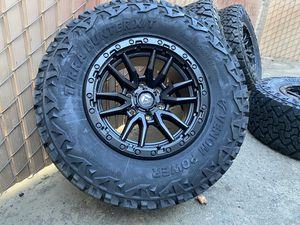 "33"" Tires 17"" Rims Chevy Silverado Tahoe GMC Sierra 1500 Yukon wheels for Sale in Sacramento, CA"