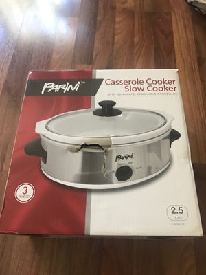 Parini Slow Cooker / Casserole Cooker Crock Pot New for Sale in Highland, CA