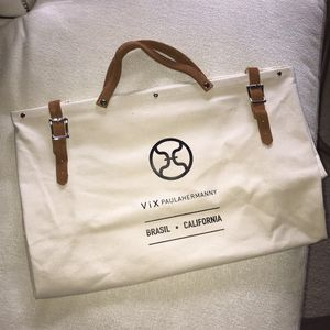 NWOT ViX large canvas tote with leather details for Sale in Dallas, TX
