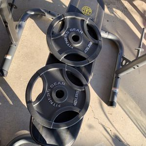 "Fitness Gear 45lb. Olympic Weight Plates (2 Plates) 2"" for Sale in Norwalk, CA"